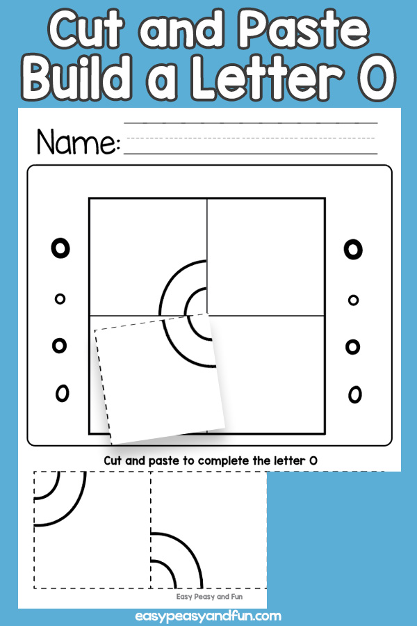 Cut and Paste Letter O Worksheets