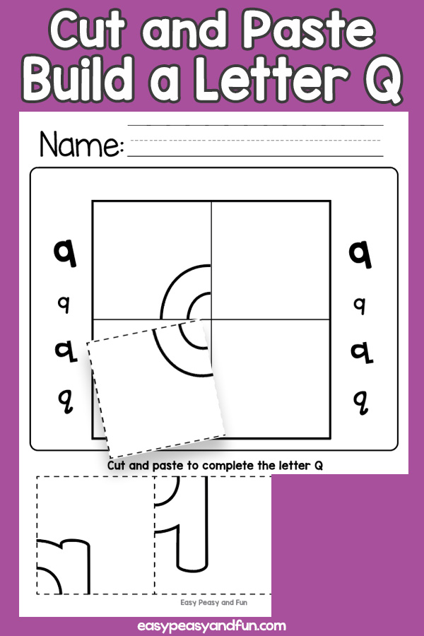 Cut and Paste Letter Q Worksheets