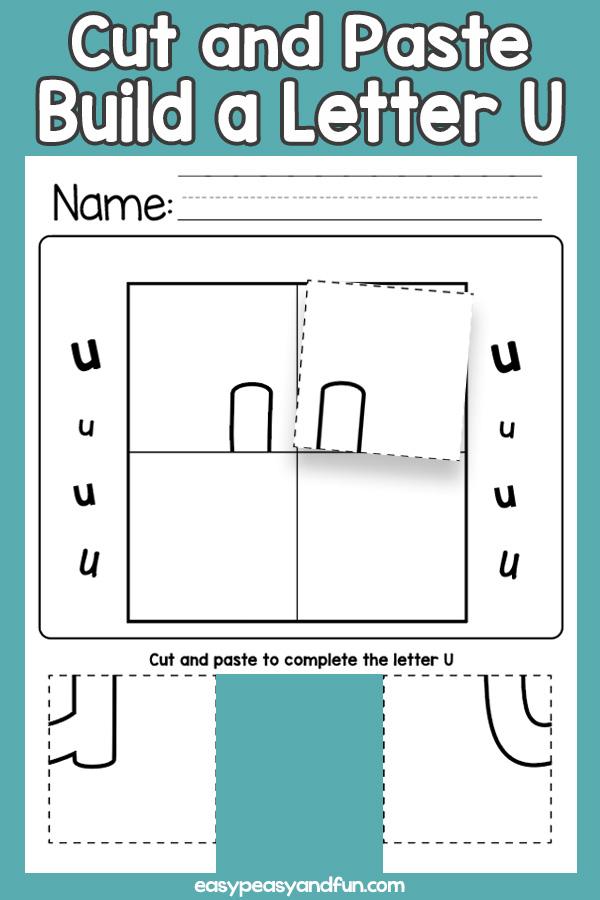 Cut and Paste Letter U Worksheets