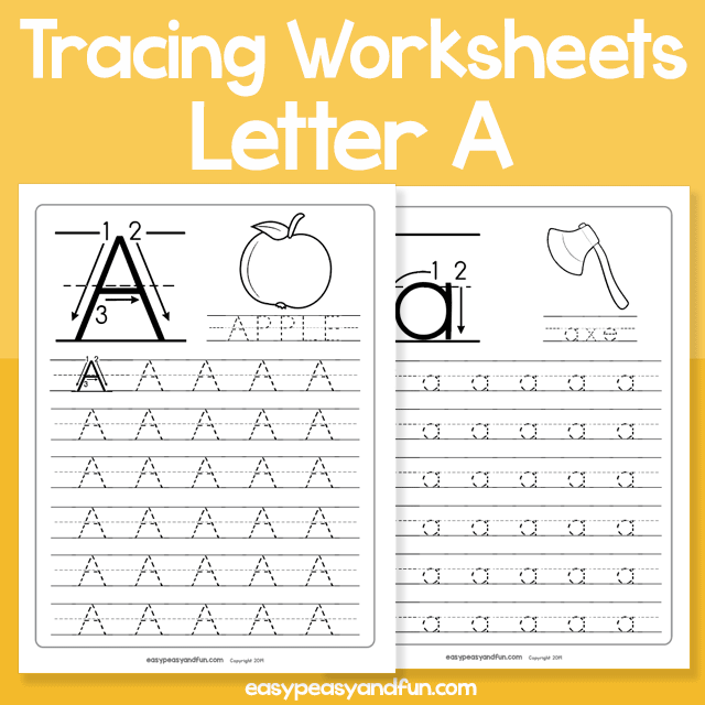 Letter A Tracing Worksheets for Kindergarten