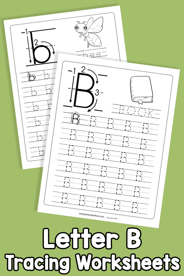 Letter B Tracing Worksheets