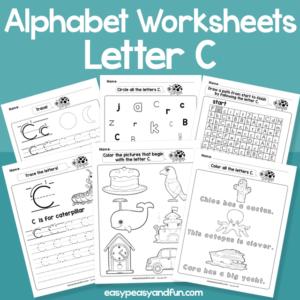 Letter C Alphabet Worksheets for Kindergarten
