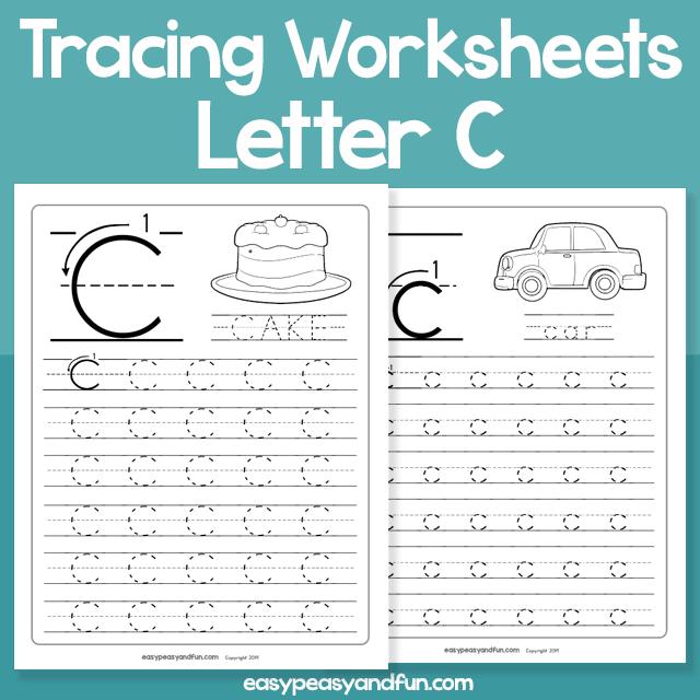 Letter C Tracing Worksheets for Kindergarten