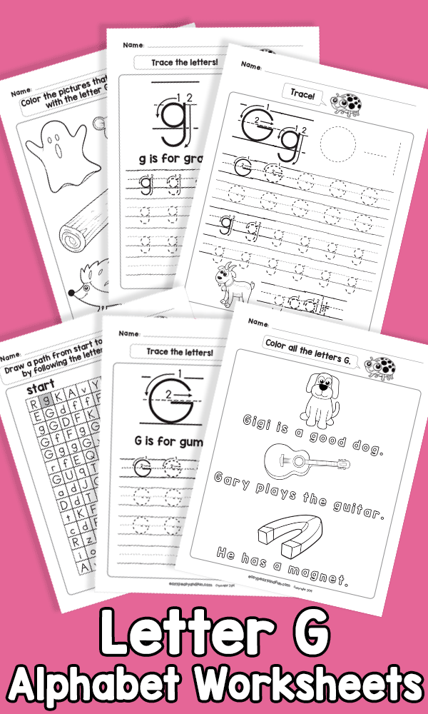 Letter G Alphabet Worksheets