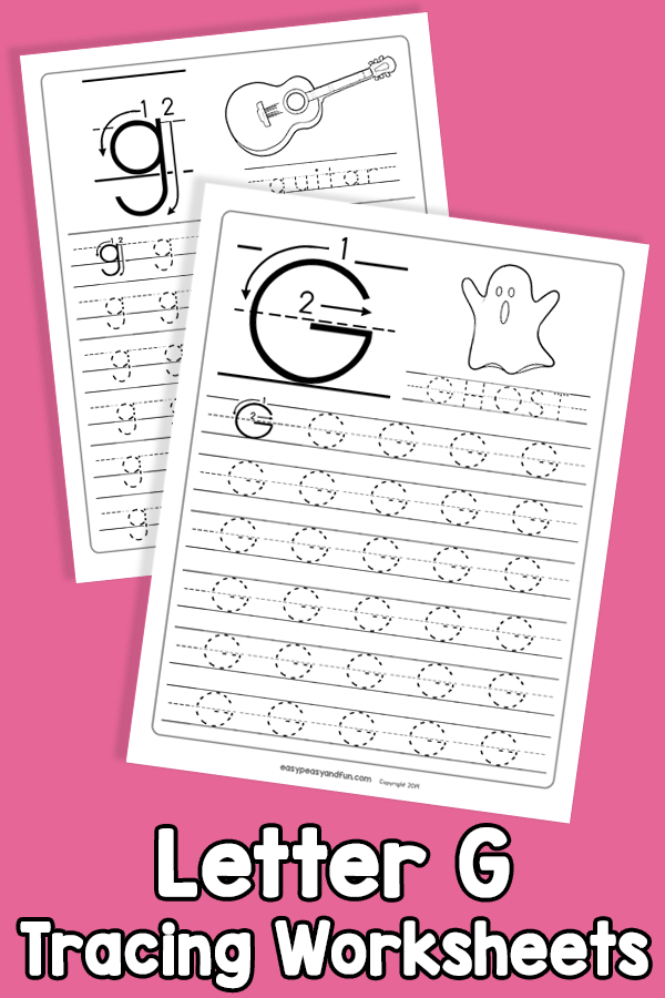 Letter G Tracing Worksheets