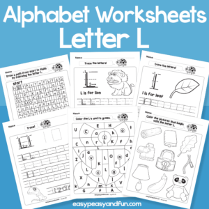 Letter L Alphabet Worksheets for Kindergarten