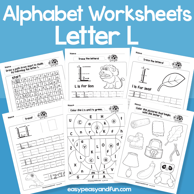 Letter L Alphabet Worksheets for Kindergarten