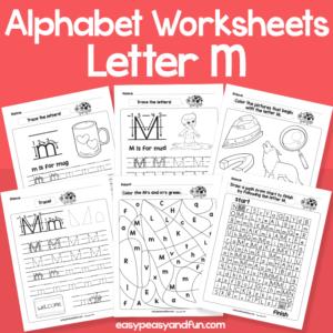 Letter M Alphabet Worksheets for Kindergarten