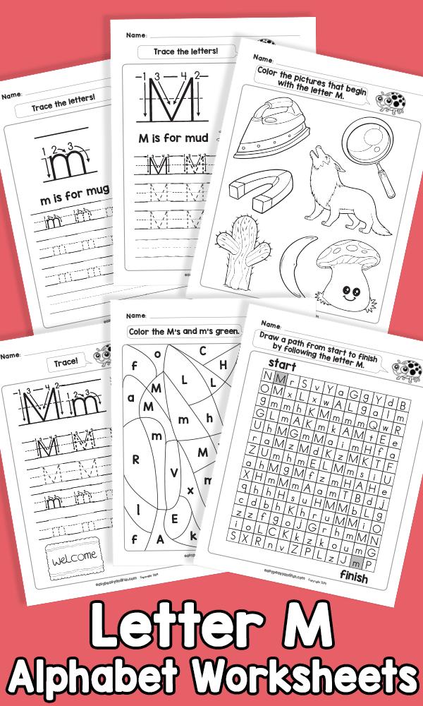 Letter M Alphabet Worksheets