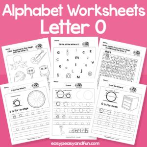 Letter O Alphabet Worksheets for Kindergarten