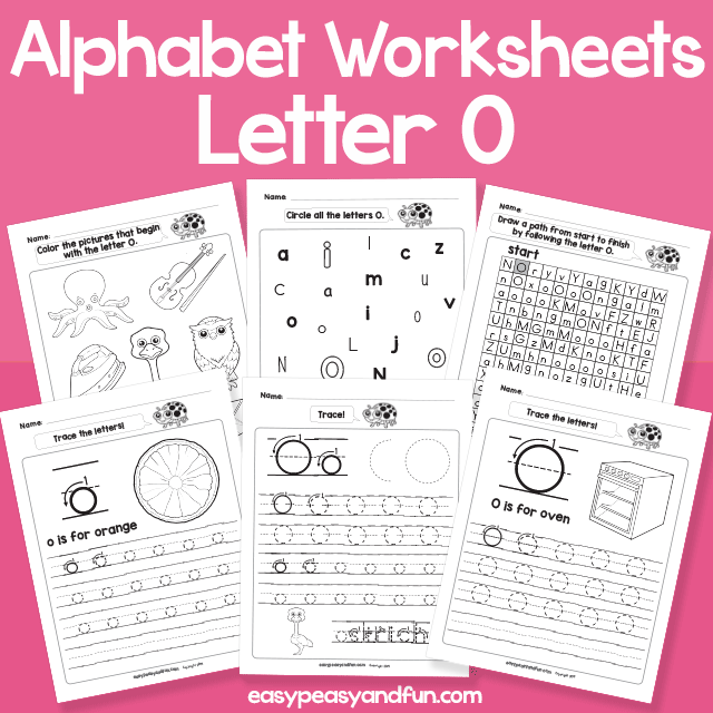 Letter O Alphabet Worksheets for Kindergarten
