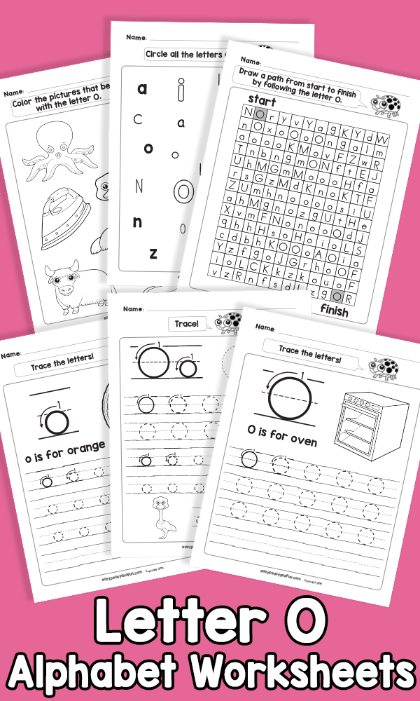 Letter O Alphabet Worksheets