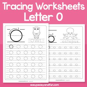 Letter O Tracing Worksheets for Kindergarten