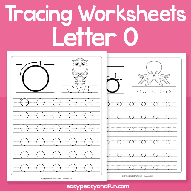 Letter O Tracing Worksheets for Kindergarten