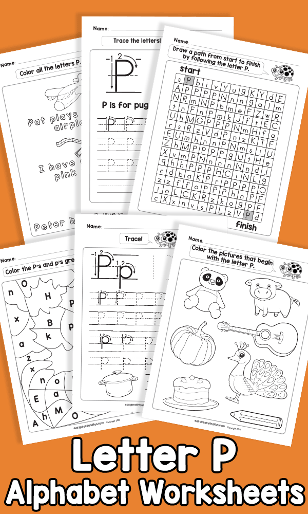 Letter P Alphabet Worksheets