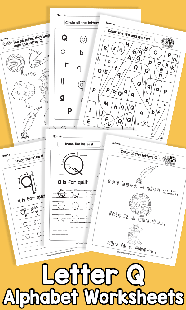 Letter Q Alphabet Worksheets