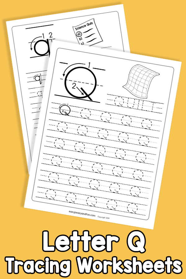 Letter Q Tracing Worksheets