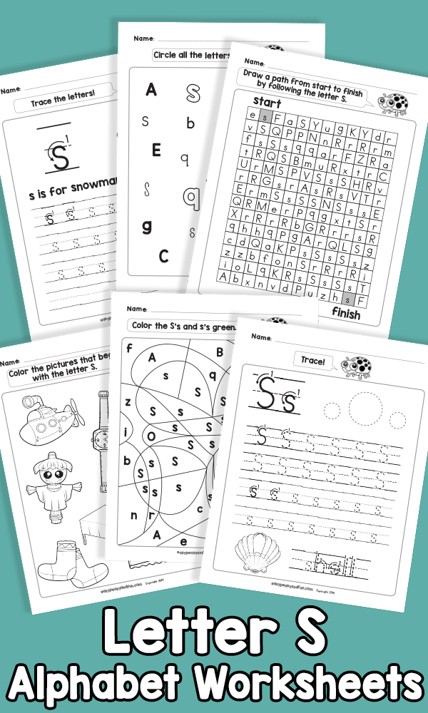 Letter S Alphabet Worksheets
