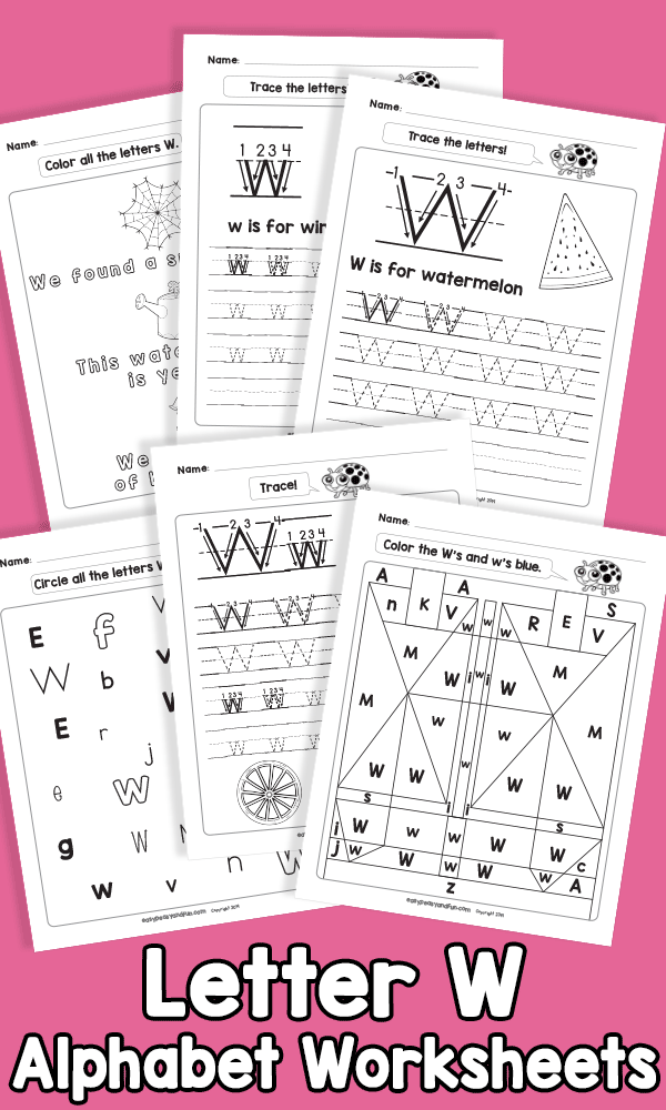 Letter W Alphabet Worksheets