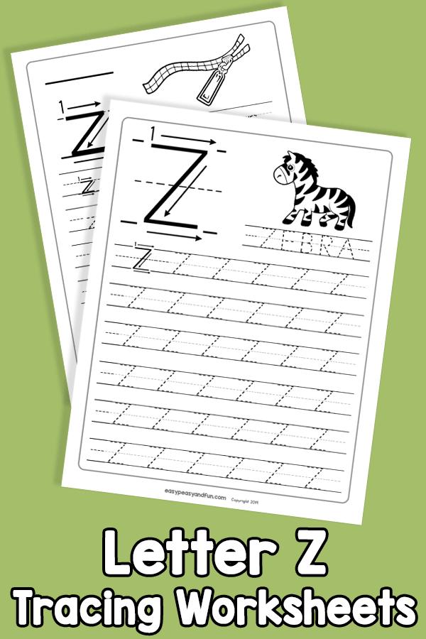 Letter Z Tracing Worksheets
