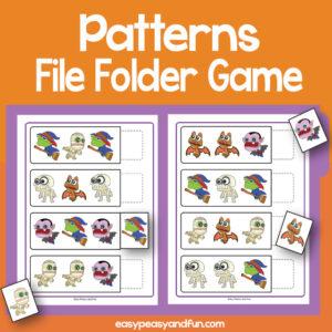 Patterns File Folder Games