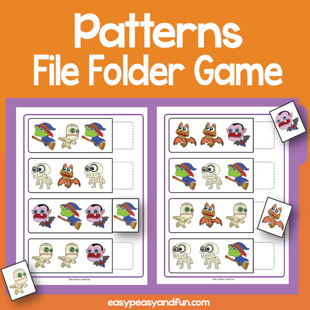 Patterns File Folder Games