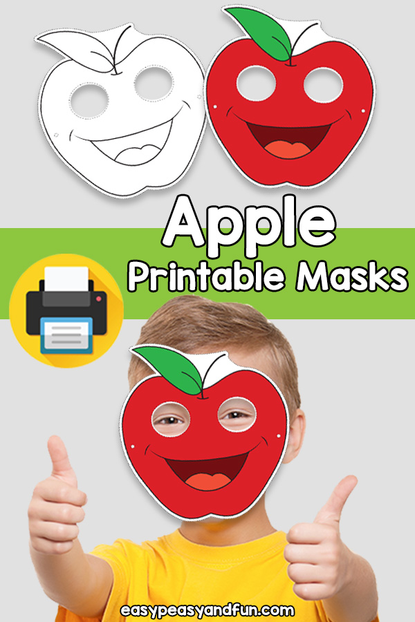 Printable Apple Mask Template (1)