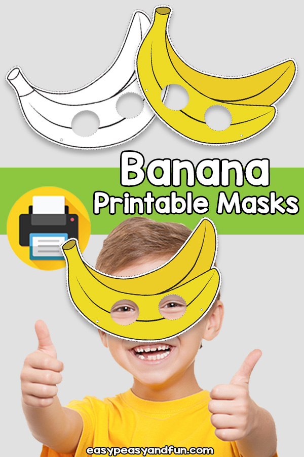 Printable Banana Mask Template