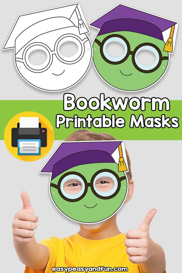 Printable Bookworm Mask Template