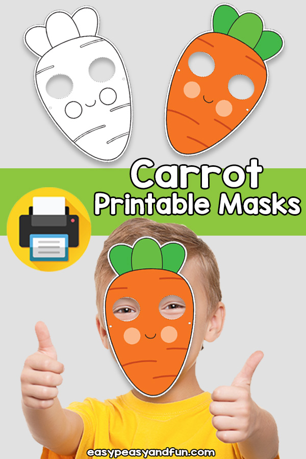 Printable Carrot Mask Template