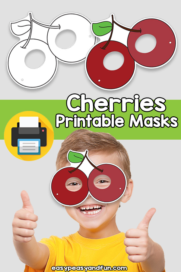 Printable Cherries Mask Template