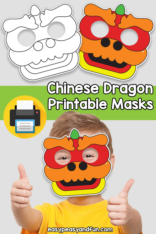 Printable Chinese Dragon Mask Template