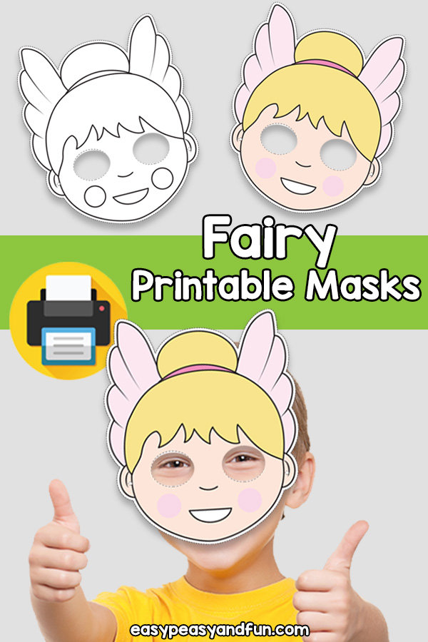 Printable Fairy Mask Template