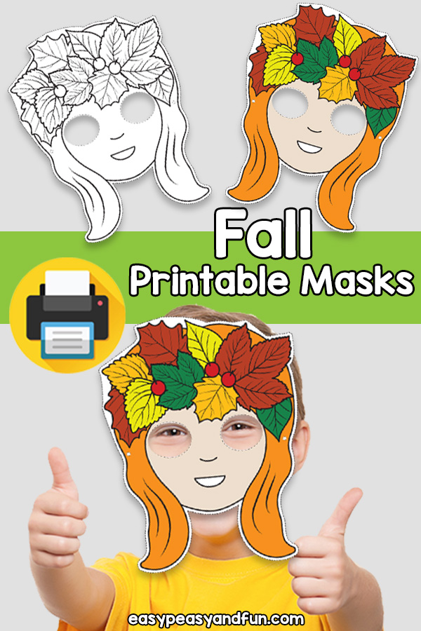 Printable Fall Mask Template