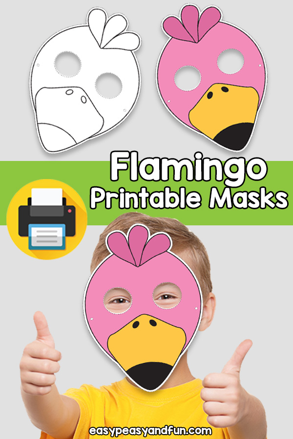 Printable Flamingo Mask Template