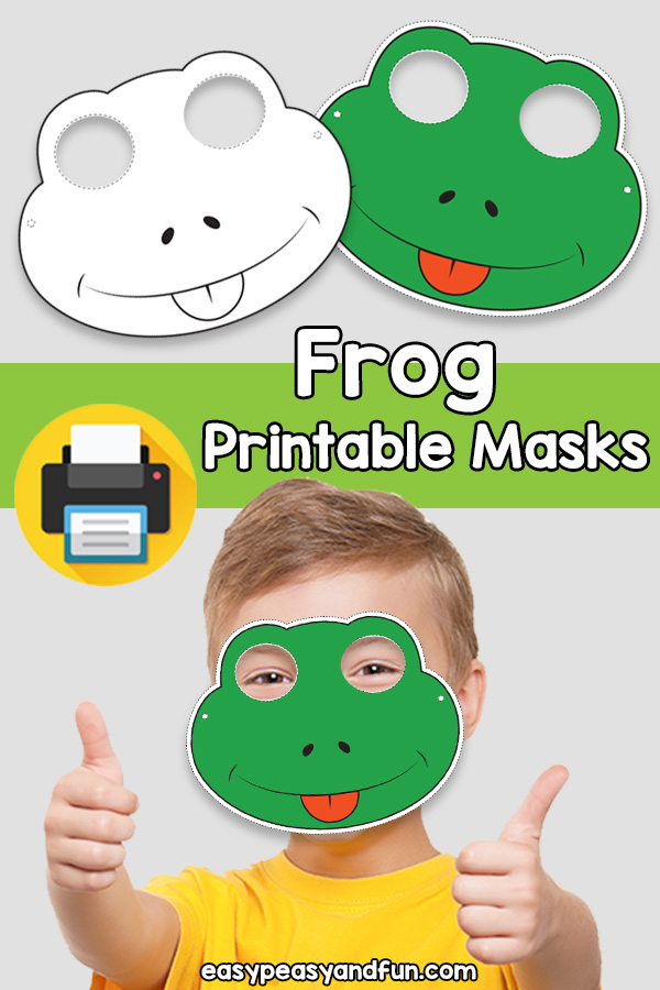 Printable Frog Mask Template
