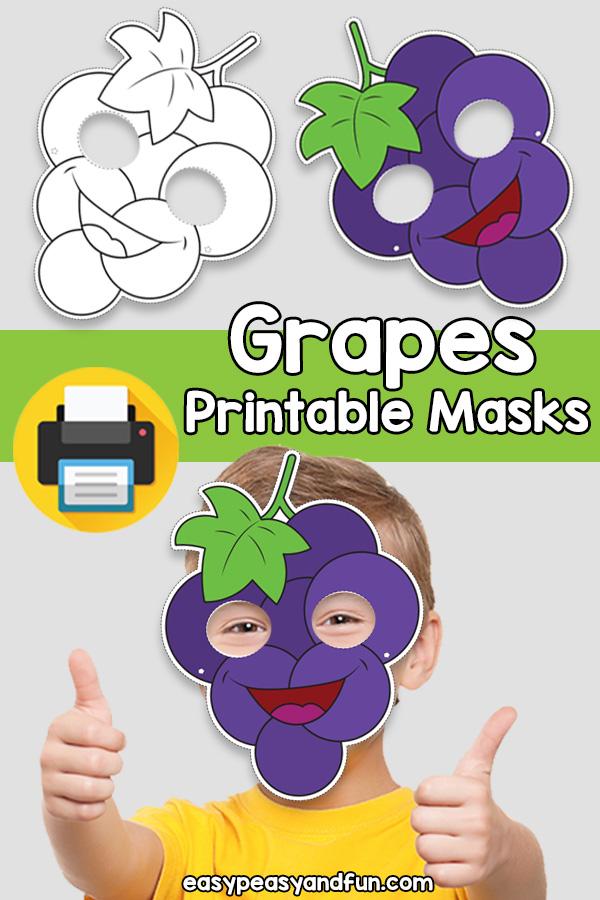 Printable Grapes Mask Template