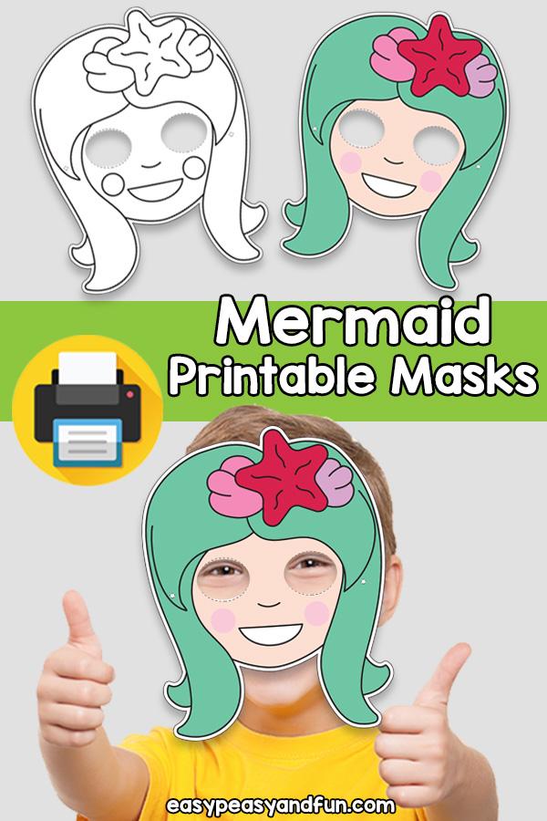 Printable Mermaid Mask Template