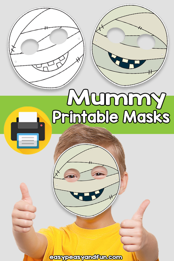 Printable Mummy Mask Template