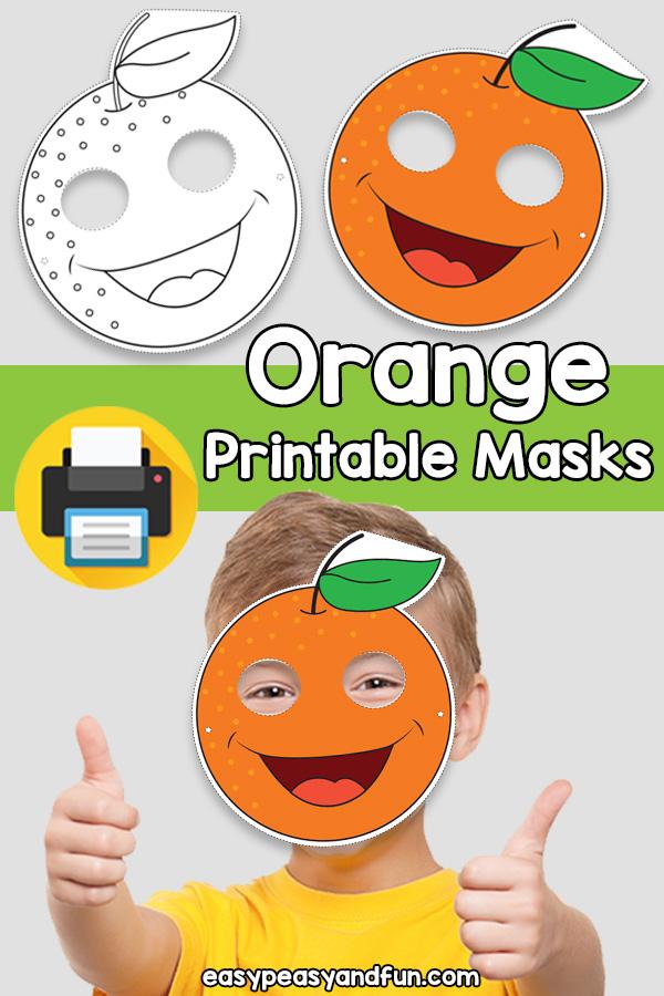 Printable Orange Mask Template