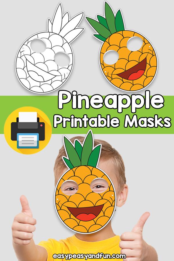 Printable Pineapple Mask Template
