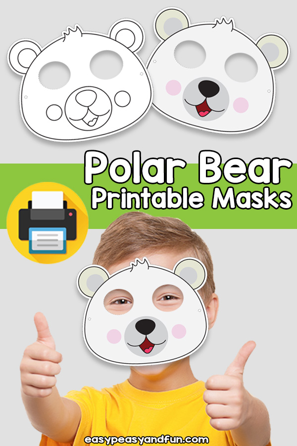 Printable Polar Bear Mask Template