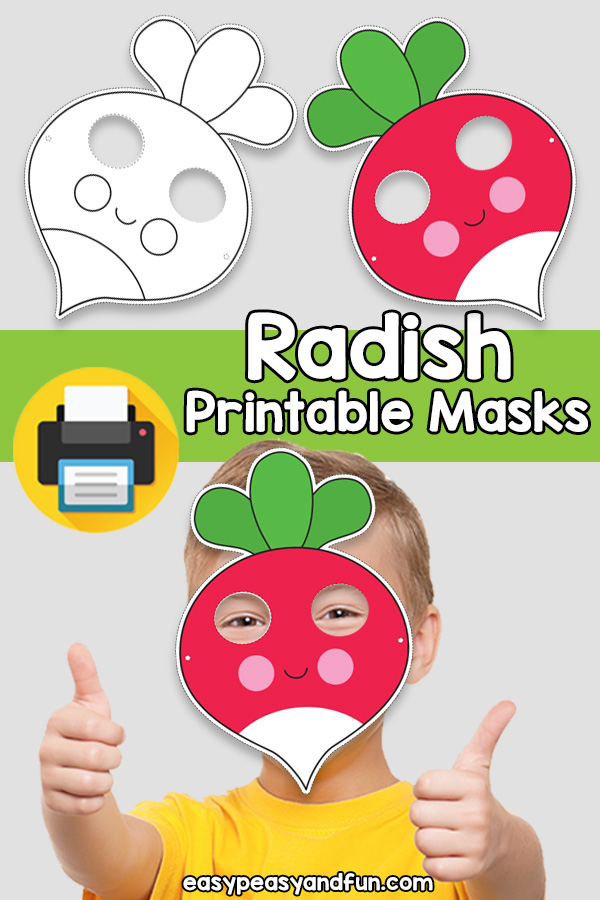 Printable Radish Mask Template (1)