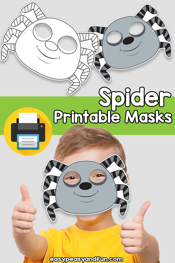 Printable Spider Mask Template