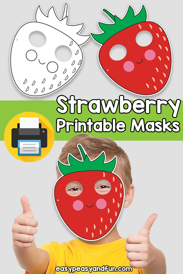 Printable Strawberry Mask Template
