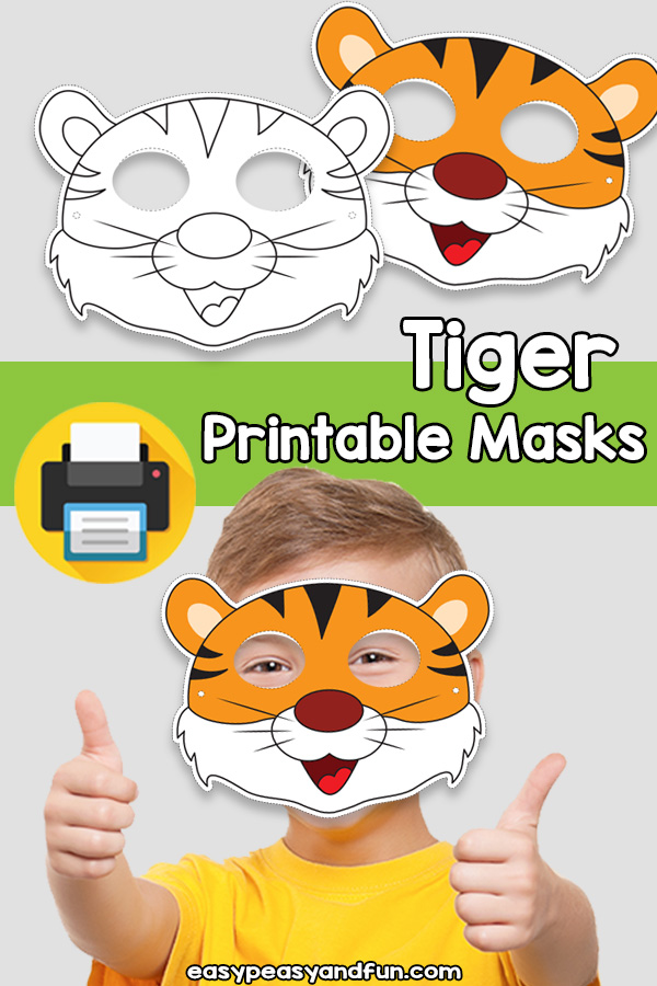 Printable Tiger Mask Template