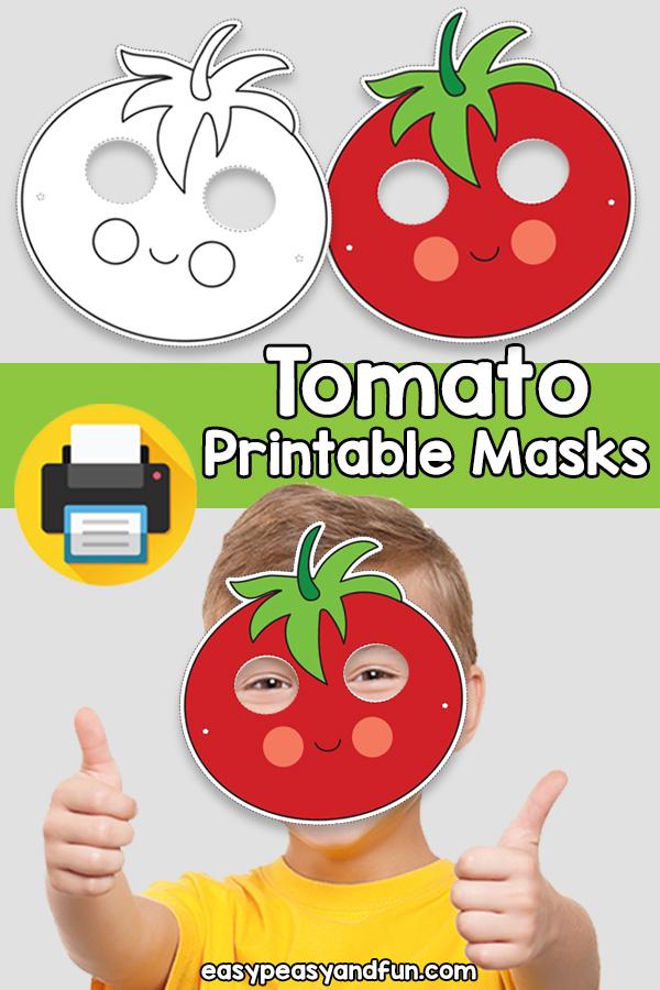 Printable Tomato Mask Template