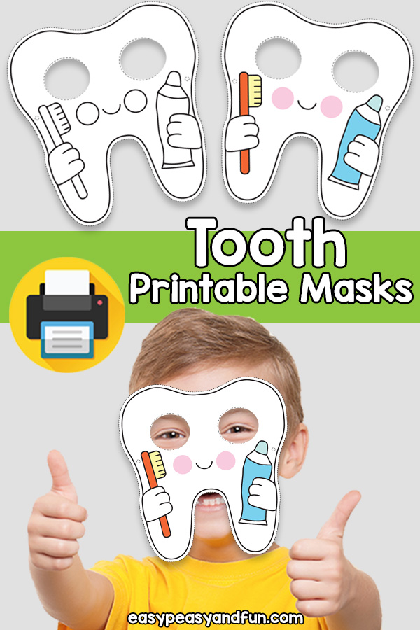 Printable Tooth Mask Template