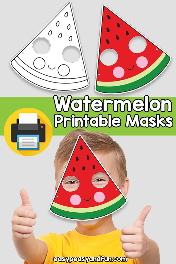 Printable Watermelon Mask Template