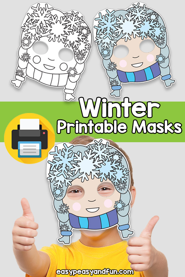 Printable Winter Mask Template